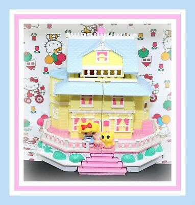 ❤️Polly Pocket Vintage 1995 Clubhouse Pop-Up Party Play House Bluebird Mansion❤️