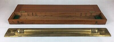 Large 2WW Naval Issue, Cooke Troughton & Simms Boxed Brass Roller Rule