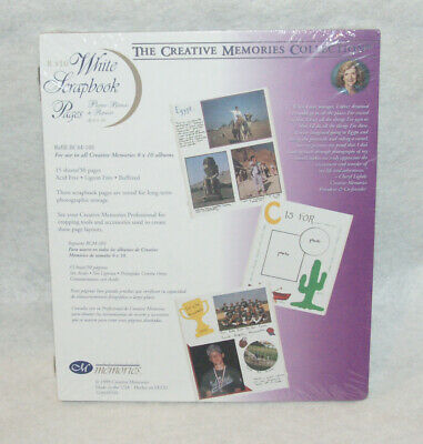 New Creative Memories 8x10 White Scrapbook Page Refills 15 Sheets