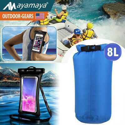 Floating Underwater Phone Case Pouch Cover + Dry Bag Kayaking Rafting Sack 8L