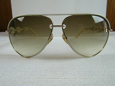639a246b6f57 JN75 GUCCI GG4225/S WQC42 LADIES MARINA WHITE CHAIN Aviator Sunglasses EUC