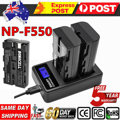 NP-F550 NPF550 Battery+Charger For Sony NP-F330 NP-F530 NP-F570 D800 TRV81 SC55