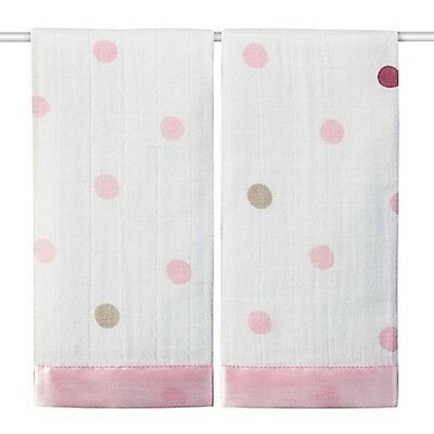 Anais Summer Soiree Heart Muslin Issie Security Blanket 2 Pack New NWT Aden