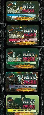 KISS - Collectable Phone Cards Sealed Foil Packs (5) / Complete Set (30) #NEW