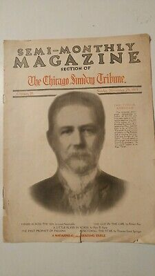 Vintage Section Chicago Sunday Tribune Semi-Monthly Magazine November 23, 1913
