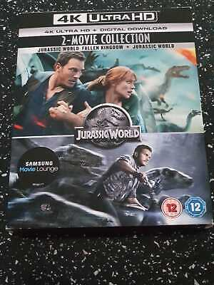 Jurassic World & Fallen Kingdom 2 Movie Collection 4k UHD + Slipcover
