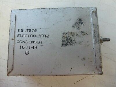 Western Electric KS-7876 Condensor / Capacitor Dated 1944