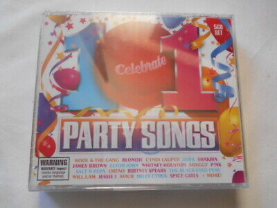 101 Celebrate Party Songs 5 CD Set Brand New Still In Plastic RRP $25.00