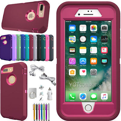 For iPhone 8 7 6 6s Plus Case Cover Heavy Duty Rubber Phone Protective Defender