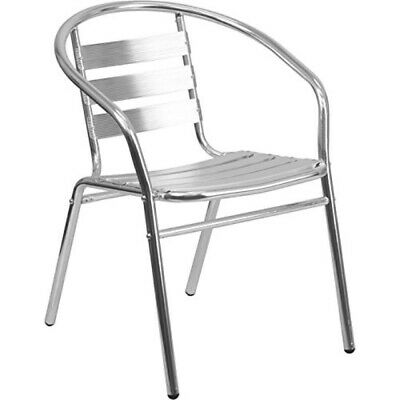 Flash Furniture Commercial Aluminum Indoor-Outdoor Restaurant Stack Chair with