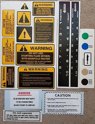 Ford 7810 Tractor Warning Decal Set