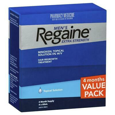 New Regaine Men's Extra Strength 4 Months Supply Hair Loss 5% Minoxidil Topical