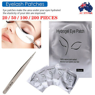 2000 x Under Eye Curve Eyelash Pads Gel Patch Lint Free Lash Extension Beauty AU
