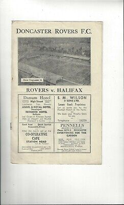 Doncaster Rovers v Halifax Town Football Programme 1946/47