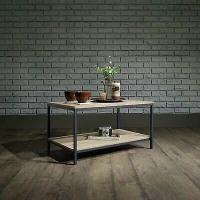 Industrial Style Coffee Table (Charter Oak Finish)