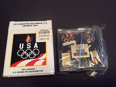 Vintage 26 Year Old NIB JC Penny 1992 U.S. Olympic 4 Pin Collectors Set