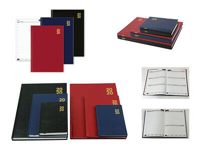 2020 A4/A5/A6 Diary Day to Page or Week to View Desk Diary Hard Backed Diary