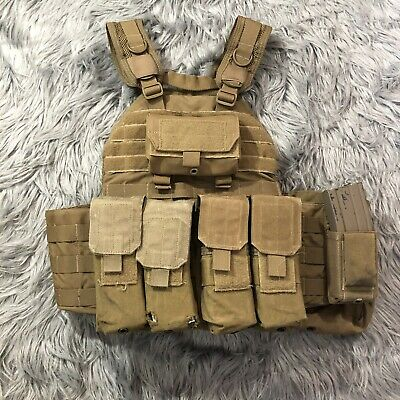FirstSpear The Beat Up SAPI Cut Molle Plate Carrier Vest Armor L Coyote Brown FS