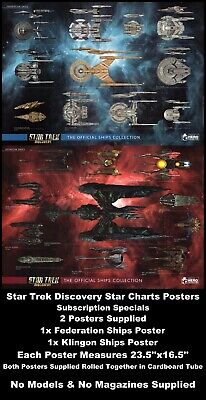 Eaglemoss Star Trek Discovery Star Charts Posters 2 Pack Subscription Specials