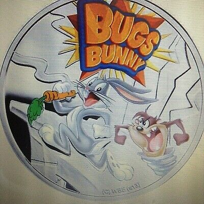 2013 $1 Niue Bugs Bunny Silver Proof Coin 14.14G 925 SILVER DIAM 32mm