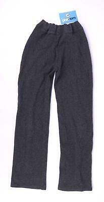 Marks & Spencer Girls Grey Fluffy Warm Trousers Age 9-10