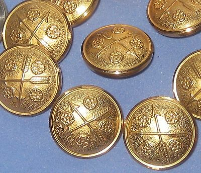 """Crossed ARROWS and FLOWER picture set 12 vintage new METAL buttons 13/16"""""""