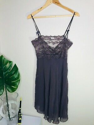 MYLA London lingerie Silk chemise slip grape aubergine