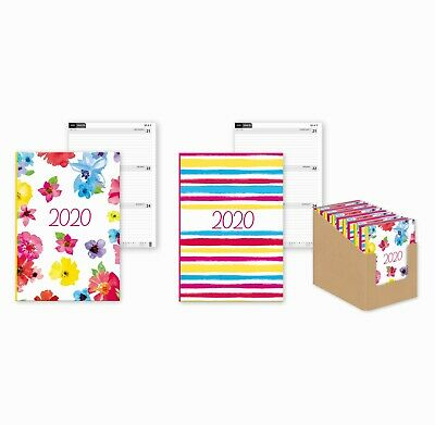 2020 Diary A5 Week to View Hard Backed Diary Planner Bright Modern Designs
