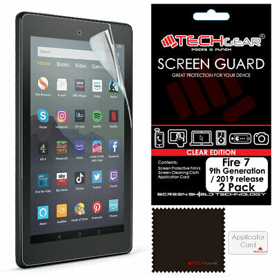 "2x TECHGEAR Screen Protectors for Amazon Fire 7"" 9th Generation / 2019 Release"