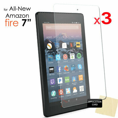"3x CLEAR Screen Protector Covers for Amazon Fire 7"" 9th Generation 2019 Tablet"