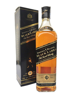 WHISKY JOHNNIE WALKER 12 BLACK LABEL EXTRA SPECIAL OLD (CAJA) · 1980 (70cl, 40%)