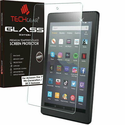"TECHGEAR TEMPERED GLASS Screen Protector For Amazon Fire 7"" 9th Generation 2019"