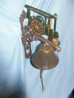Cast Iron Traction Engine Bell Heavy Garden Man Cave Shed Steam Engine