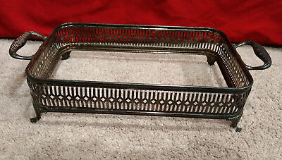 "William Adams Towle/WA Vintage Silver Plated Footed Serving Dish/Holder-13"" x 7"""