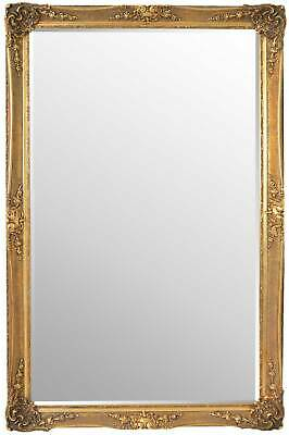 Large Wall Mirror 5Ft8 X 3Ft8 173 X 112cm Gold Vintage Style Classic Shabby Chic