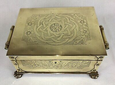 Aesthetic Movement / Arts & Crafts Copper Cigar Box, With Japanesque Wrigglework