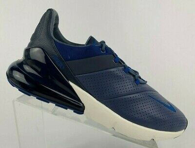 8533212338 New Nike Air Max 270 Premium Size 12 Leather Diffused Blue/Gym Blue AO8283  400