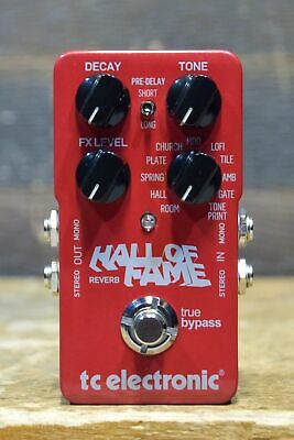 TC Electronic Hall of Fame Reverb 10-Reverb Type Guitar Effect Pedal #13348552