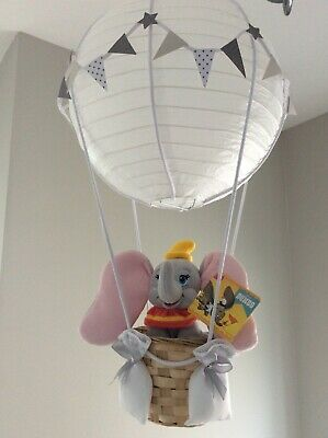 Dumbo hot air balloon nursery light shade, made to order…