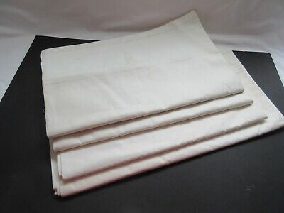 4 vintage crisp starchy Sparwick National white sheets bed linen unused