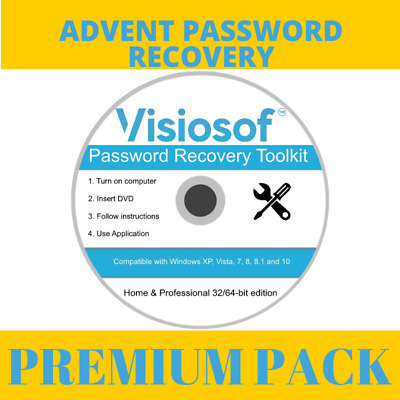 PREMIUM ADVENT PASSWORD Reset Disk Recovery Removal Windows