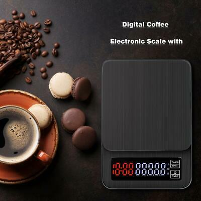 Coffee Bean Scale Kitchen Drip Timer Digital LCD Electronic High Precision SALE!