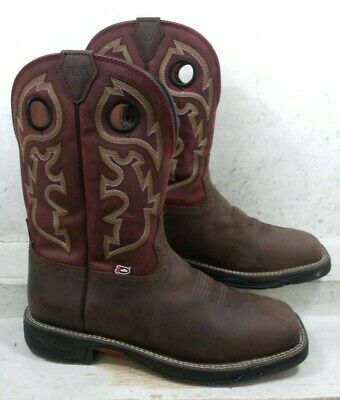 f792cc92978 JUSTIN MENS STAMPEDE Rush Grizzly Brown WTP Western Boots Shoes WK4326 size  12 M