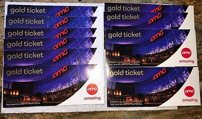 10 AMC Theatres Gold Movie Tickets for 10 Admission No Expiration date