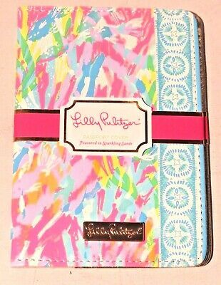 Brand New Lilly Pulitzer Sparking Sands Passport Cover / Holder / Wallet