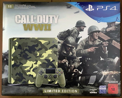 PS4 WWII Call of Duty Konsole*Playstation 4 camouflage*2 Controller&Spiel*NEU