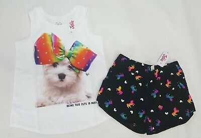 54201a52c03e NWT JUSTICE GIRLS Outfit 6/7 or 18/20 Rainbow Puppy Dog Top ...