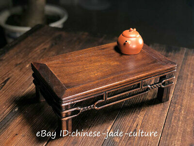 """13"""" Old China Huanghuali Wood Classical Furniture Dining Center Tea Table Desk"""