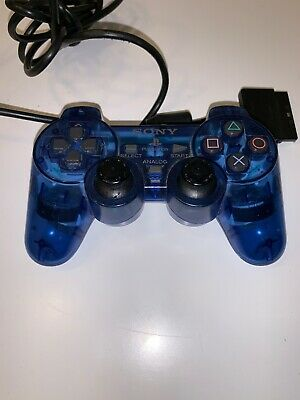Sony PlayStation 2 Controller PS2 Blue Official Genuine OEM SCPH-10010 - TESTED