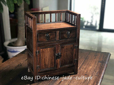 """19"""" 1960s Old China Huanghuali Wood Handle Drawer Table Desk Cupboard Cabinet"""